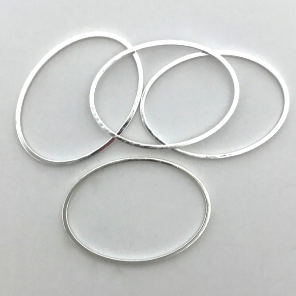 Quick Links, Oval, 18 x 25mm, Silver Plated (Qty: 4)