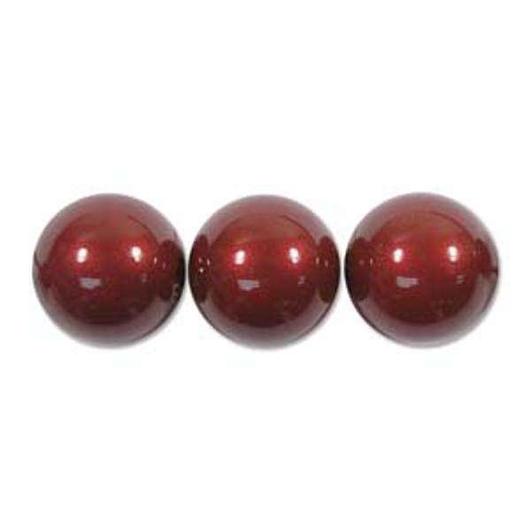 4mm Swarovski Pearls, Bordeaux (Qty: 50)