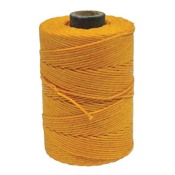 Irish Waxed Linen, 4-Ply, Bright Yellow (10 yards)