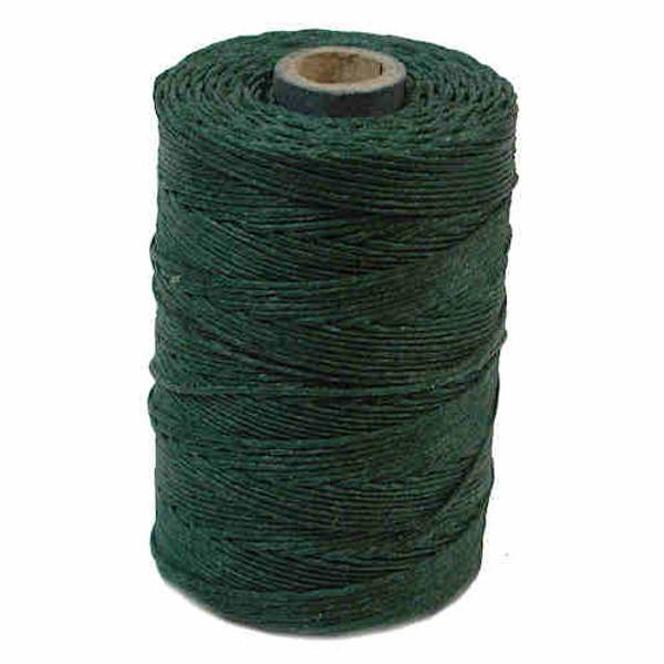 Irish Waxed Linen, 4-Ply, Dark Forest Green (10 yards)