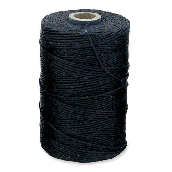 Irish Waxed Linen, 4-Ply, Navy Blue (10 yards)
