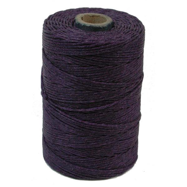 Irish Waxed Linen, 4-Ply, Plum (10 yards)