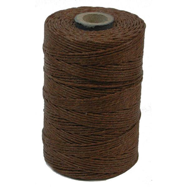 Irish Waxed Linen, 4-Ply, Walnut Brown (10 yards)