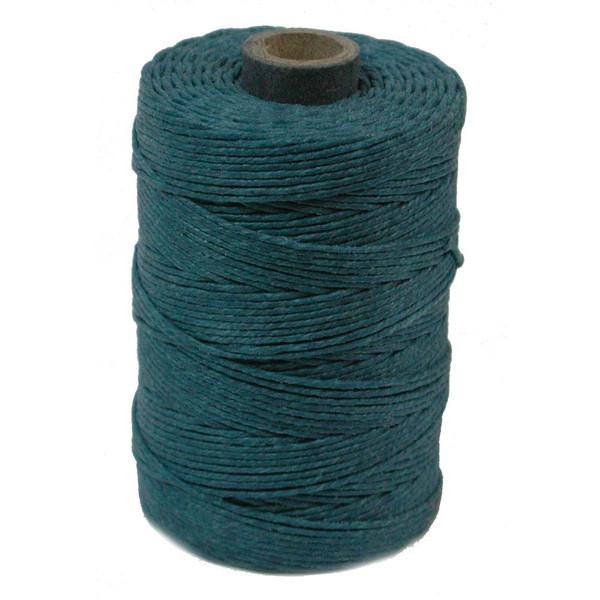 Irish Waxed Linen, 7-Ply, Teal (10 yards)