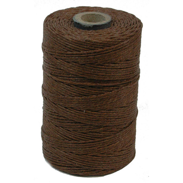 Irish Waxed Linen, 7-Ply, Walnut Brown (10 yards)