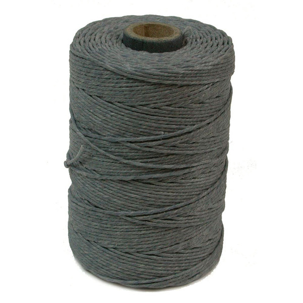 Irish Waxed Linen, 4-Ply, Charcoal Grey (10 yards)