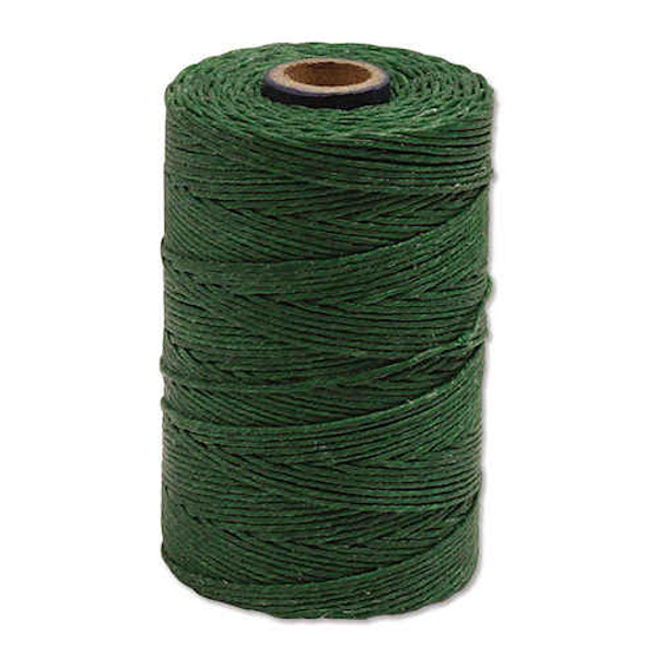 Irish Waxed Linen, 4-Ply, Dark Emerald Green (10 yards)