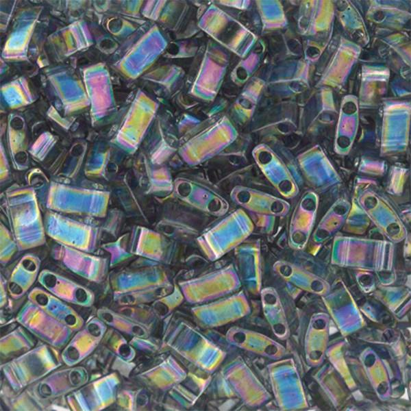 Half Tilas, Transparent Grey Rainbow Luster, Color 2440D (10 gr.)