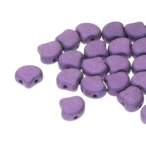 Ginko Beads, Metallic Suede Purple (Qty: 25)