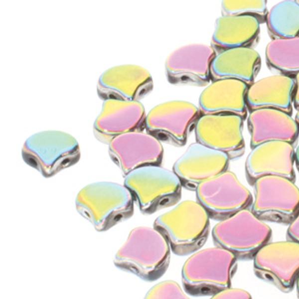 Ginko Beads, Full Vitrail (Qty: 25)