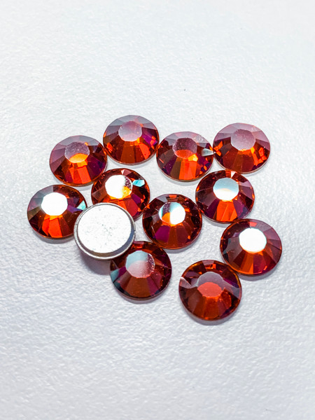 Factory Pack! Crystal Red Magma Swarovski Flat Back Crystals, Article 2028, SS 40, Non-HotFix (Qty: 144)