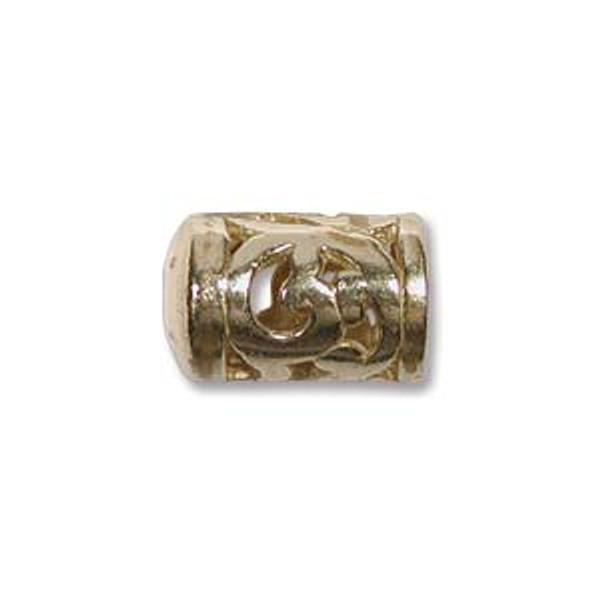 Filigree End Caps, Brass, ID 5mm (Qty: 2)