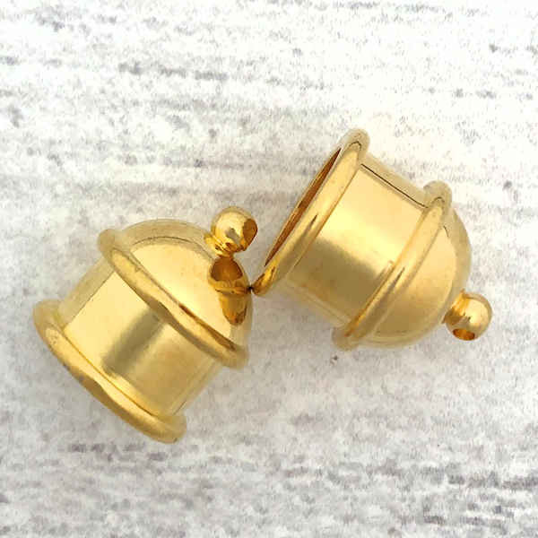 TierraCast Pagoda End Caps, Gold-Plated, ID: 10mm (Qty: 2)