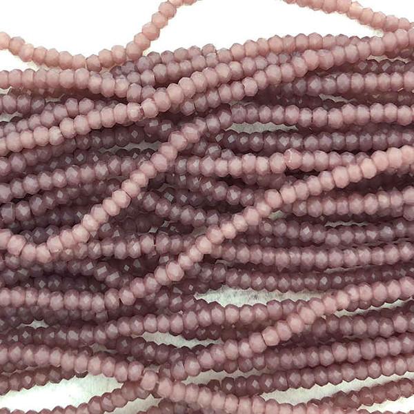 1.5x2mm Crystal Rondelles, Dark Amethyst (Approx. 200 Beads)