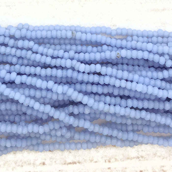 1.5x2mm Crystal Rondelles, Periwinkle (Approx. 200 Beads)