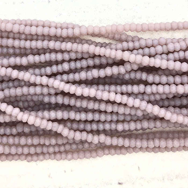 1.5x2mm Crystal Rondelles, Light Amethyst (Approx. 200 Beads)