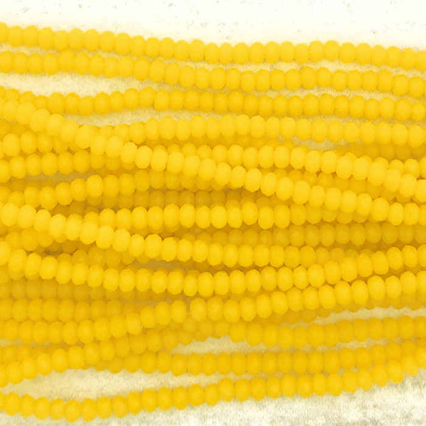 1.5x2mm Crystal Rondelles, Butterscotch (Approx. 200 Beads)
