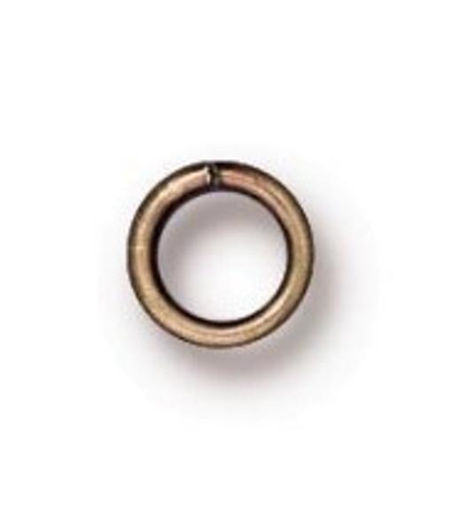 TierraCast 4mm Jump Rings, 20 ga., Oxidized Brass (Qty: 50)