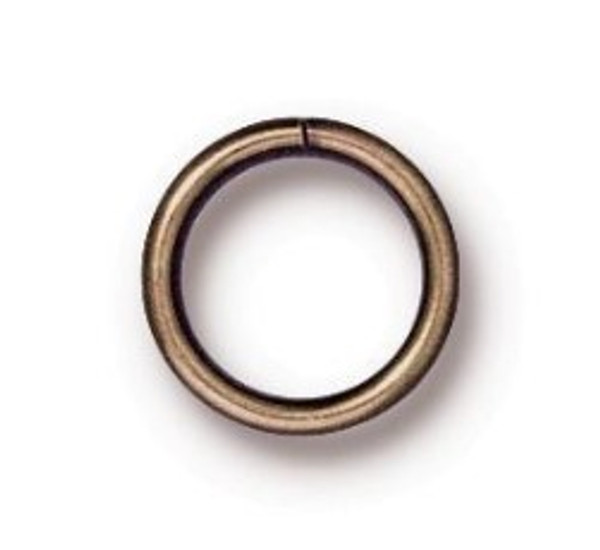 TierraCast 8mm Jump Rings, 18 ga., Oxidized Brass (Qty: 10)
