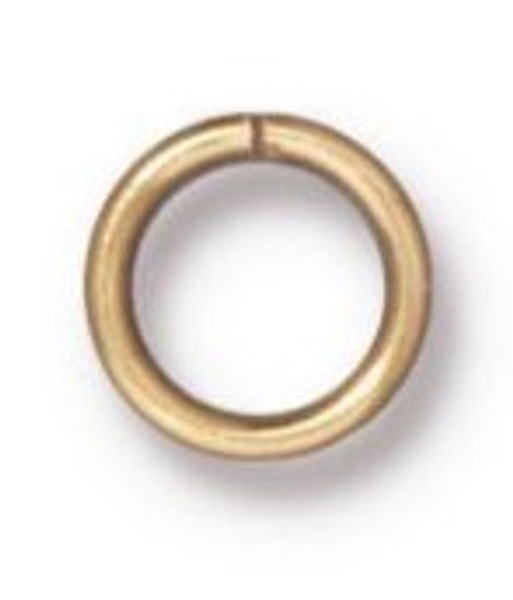 TierraCast 6mm Jump Rings, 19 ga., Gold-Plated (Qty: 20)
