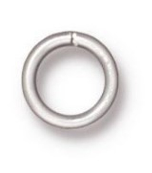 TierraCast 6mm Jump Rings, 19 ga., Silver-Plated (Qty: 20)