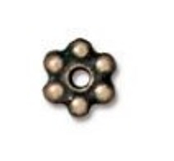 TierraCast 3mm Daisy Spacers, Oxidized Brass (Qty: 50)