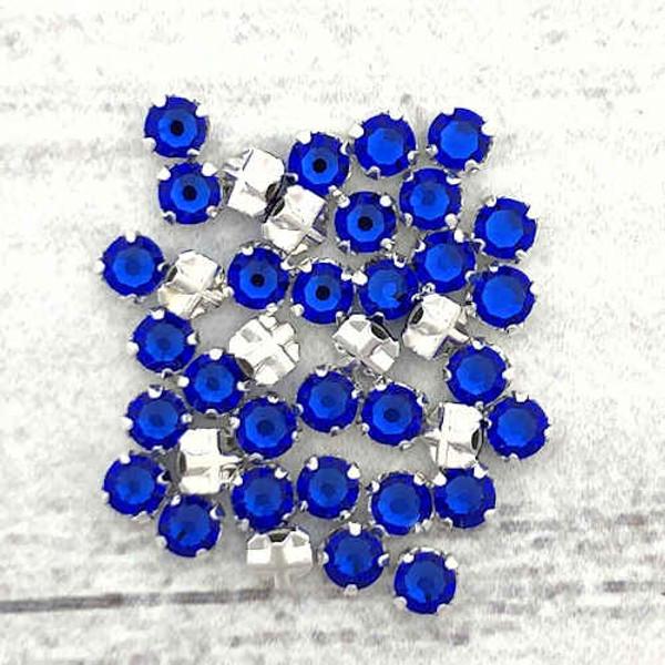 12ss Swarovski Rose Montees - Majestic Blue (Qty: 50)