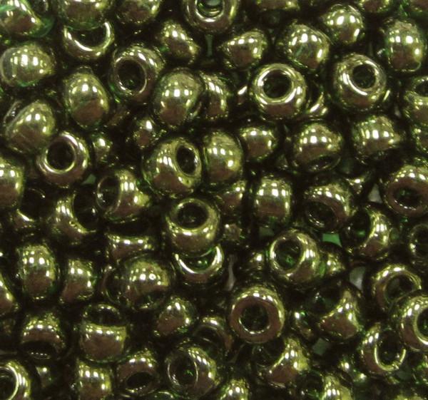 6-0306, Olive Green Gold Luster