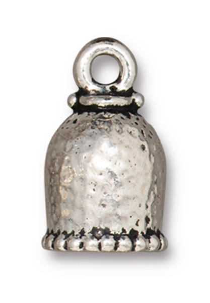 TierraCast 8mm Palace Cord End, Antique Silver Plate (Qty: 2)