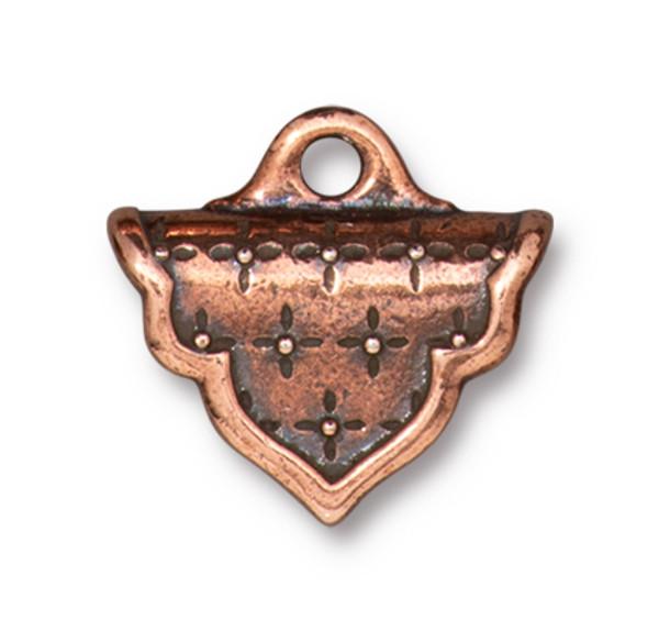 TierraCast Marrakesh Crimp End, Antique Copper Plate (Qty: 2)