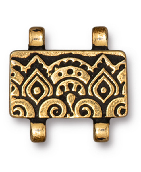 TierraCast Temple Stitch-in Magnetic Clasp, Antique Gold Plate (Qty: 1)
