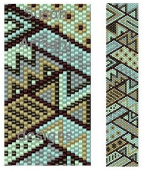 Sue Arrighi's Diagonals 3 Bracelet Kit (pattern sold separately) Even Count Peyote Stitch