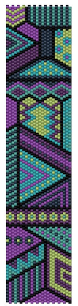 Sue Arrighi's Carnival 8 Bracelet Kit (pattern sold separately) Even Count Peyote Stitch