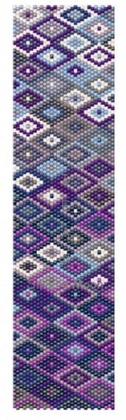 Sue Arrighi's Blue Diamonds Bracelet Kit (pattern sold separately) Even Count Peyote Stitch