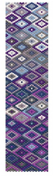 Sue Arrighi's Blue Diamonds Bracelet Kit (pattern sold separately) Even Count Peyote Stitch