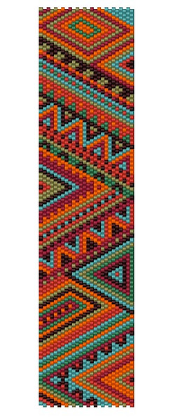 Sue Arrighi's Carnival 5 Bracelet Kit (pattern is in the May/June issue of Bead & Button mag!)) Even Count Peyote Stitch