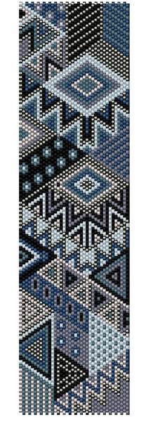 Sue Arrighi's Grey Skies Bracelet Kit (pattern sold separately) Even Count Peyote Stitch