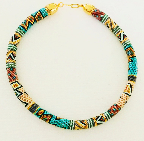 Sue Arrighi's Zig Zag Necklace Kit (pattern sold separately) Peyote with a Twist Stitch