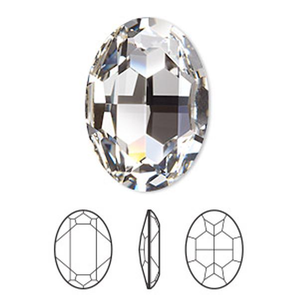 30x22mm Oval Fancy Stone Swarovski 4127, Crystal