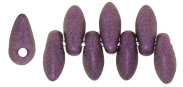 Mini Daggers, 2.5 x 6mm, 1-Hole, Metallic Suede Pink (Qty: 50)