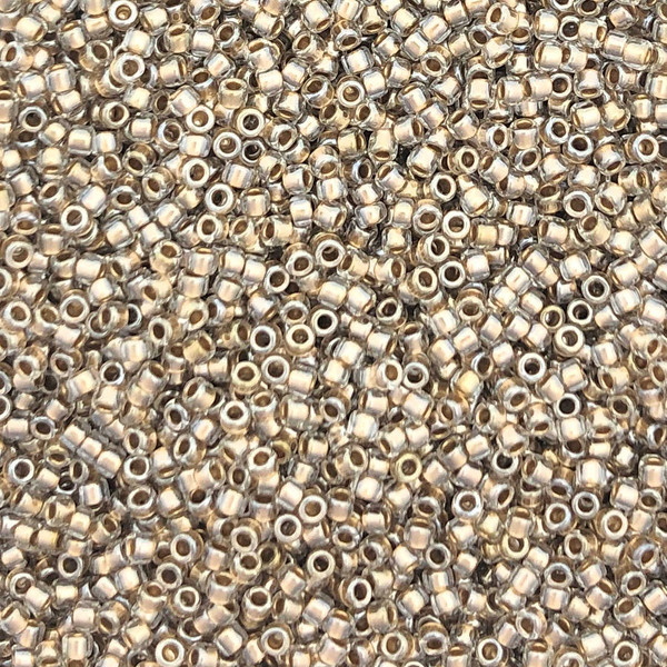 15-0378, Gold Lined Crystal (Toho 989) (14 gr.)