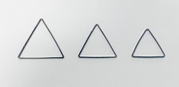 29mm Triangle Link/Frame/Form, Imitation Rhodium-Plated Brass (Qty: 6)