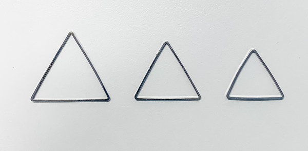 20mm Triangle Link/Frame/Form, Imitation Rhodium-Plated Brass (Qty: 6)