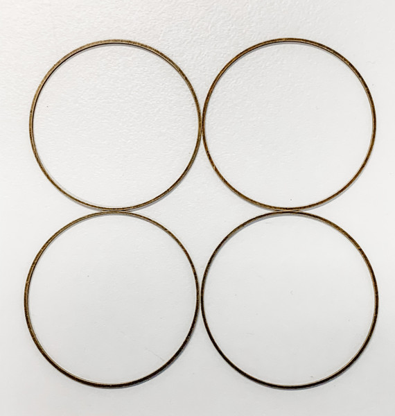 40mm Round Link/Frame/Form, Antique Bronze-Plated Brass (Qty: 4)