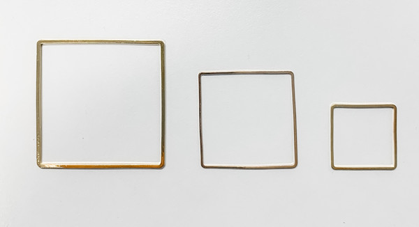 40mm Square Link/Frame/Form, Gold-Plated Brass (Qty: 4)