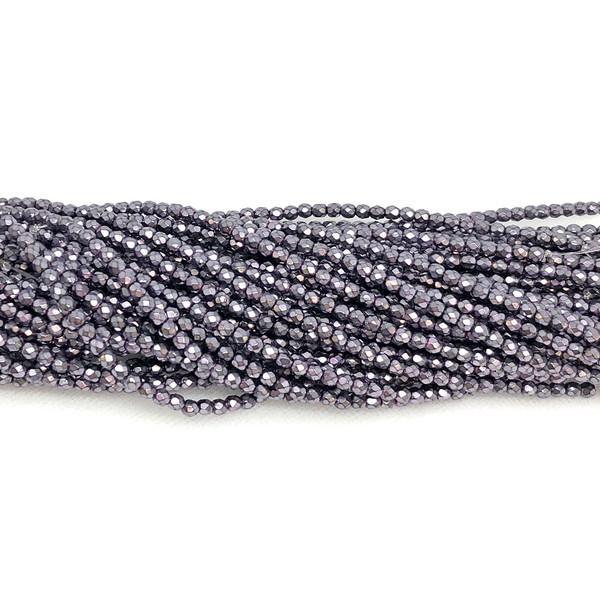 3mm Fire Polish, Heavy Metal Lavender (Qty: 50)