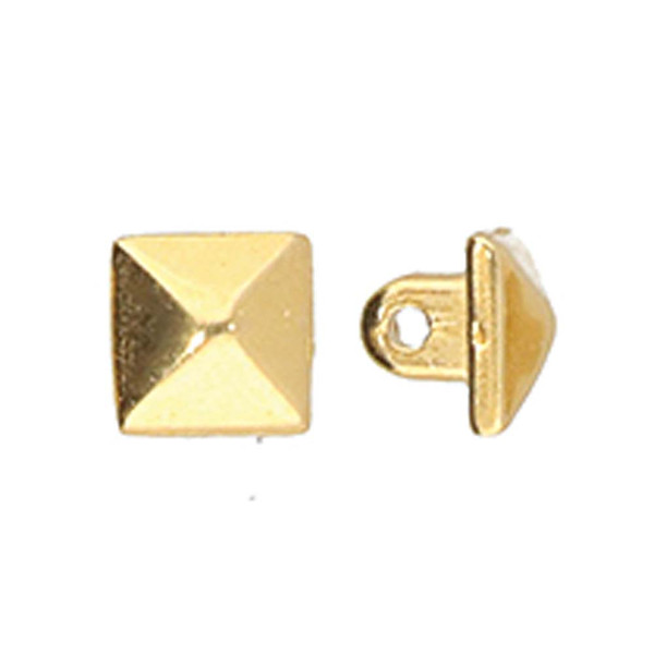 Cymbal Vigla, 8/0 Bead Substitute, 24k Gold-Plated (Qty: 4)