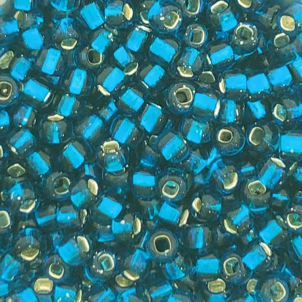 6-0019E, Silver-Lined Dark Blue Aqua (28 gr.)