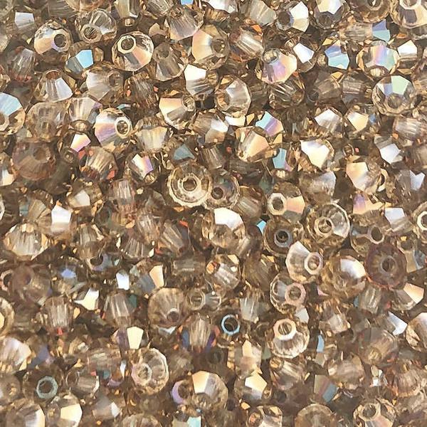 3mm Preciosa Bicones, Crystal Celsian (Qty: 50)