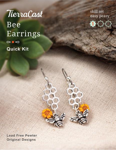 TierraCast Bee Earrings Kit, Wire Work (Beginner)